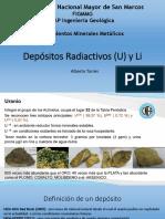 AT -YMM-XI Depositos Radiactivos y Li 2018-II