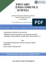 EDUCARE TRA SENSO COMUNE E SCIENZA