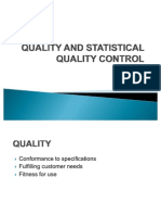 QUALITY AND STATISTICAL QUALITY CONTROL