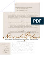 The Nuremberg Laws - Prologue, Winter 2010