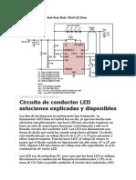 Circuito de conductor LED soluciones explicadas y disponibles
