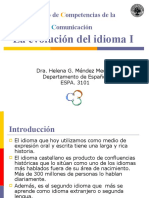 La Evolucion Del Idioma Parte I-Version-papel