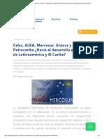 Celac, ALBA, Mercosur, Unasur y Petrocaribe ¿Hacia el desarrollo económico de Latinoamérica y El Caribe_.pdf