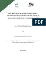 Rapport scientifique final, Saint-Laurent et Gosselin