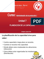 UNIDAD # 7.  PLANIFICACION DE LA CAPACIDAD