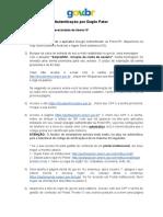 FAQ - Duplo Fator