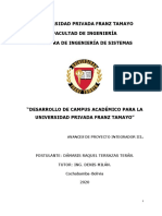 Perfil proyecto campus de Unifranz