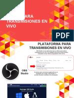 Transmisión OBS para Iglesias (Primeros pasos)