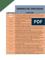 DEBERES DEL EMPLEADOR