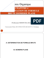 CHAPITRE 4 DETERMINATION DE FORMULE BRUTE ISOMERIE PLANE