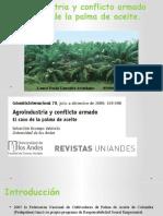 Agroindustria y conflicto armado