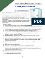 SANDI Datasheet of SDT-30KW single phase 220V to three phase 220V converter.pdf