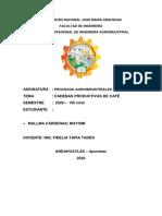 CADENA PRODUCTIVA DE CAFE - MAYOMI MALLMA CARDENAS- CURSO DE AGRONEGOCIOS