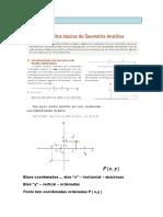 Conceitos básicos da Geometria Analítica