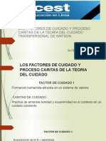 Los Factores de Cuidado y Proceso Caritas de la Teoría del Cuidado Transpersonal de Watson