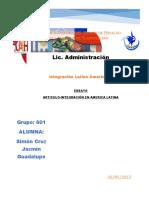 INTEGRACION DE AMERICA LATINA