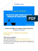 Position and Rights of a Minor in Partnership Firm.pdf