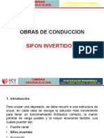 Obras Hidraulicas Sesion 08 - SIFON INVERTIDO