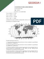 Ejercicios de Distancias en El Mismo Meridiano