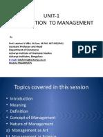 UNIT-1 introduction to management