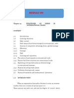 Module 8 STRATEGIES OF FIRMS IN INTERNATIONAL TRADE