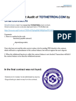 Smart Contract Audit of Tothetron.com Eng