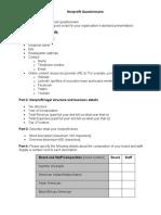 Nonprofit Questionnaire