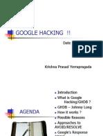 Krishna Google Hacking
