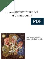 COMMENT ETUDIER UNE ŒUVRE D'ART