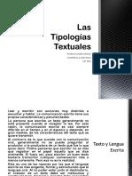 Las Tipologías Textuales