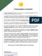 settore fotovoltaico e incentivi - 4