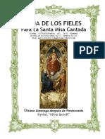 Ultimo Domingo Después de Pentecostés. Guía de los fieles para la santa misa cantada. Kyrial Orbis Factor