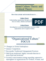 Organizational culture critical theory