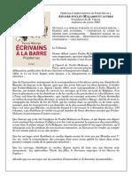 Ecrivains à La Barre Plaidoiries_Poulet Malassis 1865