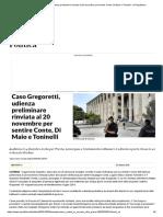 Caso Gregoretti, udienza preliminare rinviata al 20 novembre per sentire Conte, Di Maio e Toninelli - la Repubblica