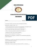 examen A   Prueba Final del curso de Ifismo