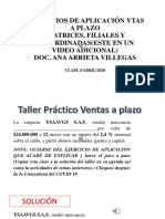 EJERCICIOS DE APLICACIÓN VTAS A PLAZO