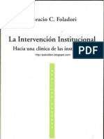 Horacio Foladori - La Intervencion Institucional