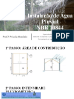 Instalação de Água Pluvial