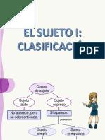 TEMA 5 - EL SUJETO I CLASIFICACIÓN