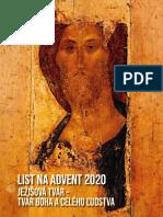 [Slovenčina]List na Advent 2020pre Vincentínsku Rodinu