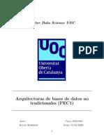 Arquitectura bases de datos no tradicionales