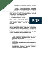 Definición del análisis de la plataforma estratégica aplicada