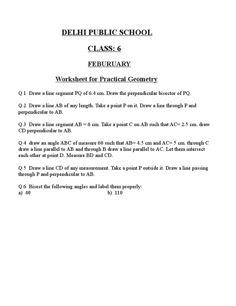 Printable Worksheets measuring line segments worksheets : worksheet for class 6