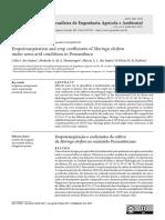 Evapotranspiration and crop coefficients of Moringa oleifera