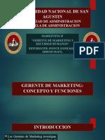 PONCE GONZALES SERGIO Gerente de Marketing y Rrhh