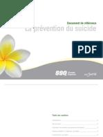 La prévention du suicide Document de référence