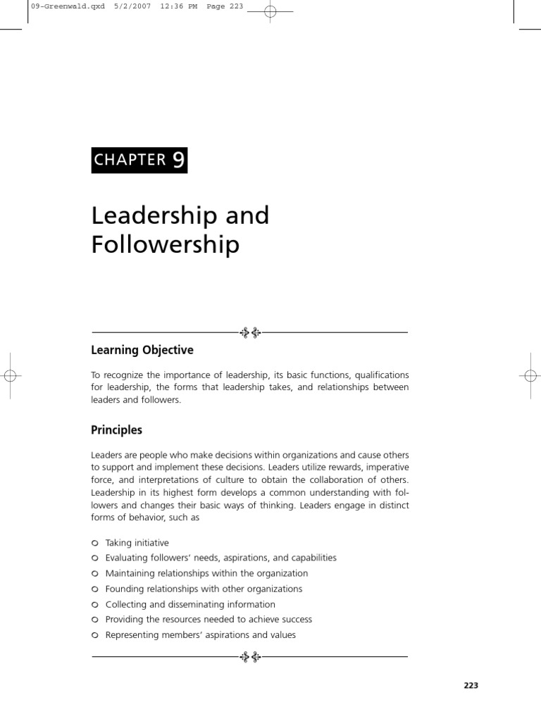 relationship between leadership and followership
