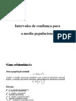 INTERVALOS DE CONFIANCA