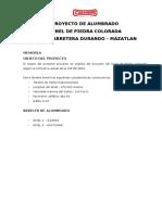 MA1100148 - MEMORIA TUNEL PIEDRA COLORADA CIE-88.2004